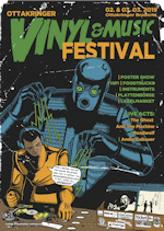 Vinyl and Music festival poster