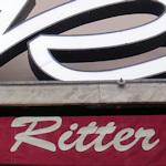 Café Ritter sign