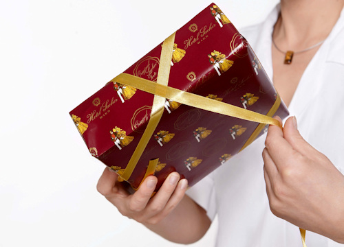 A wrapped Sachertorte