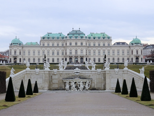 Upper Belvedere seen from the rear