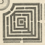 A square labyrinth from above