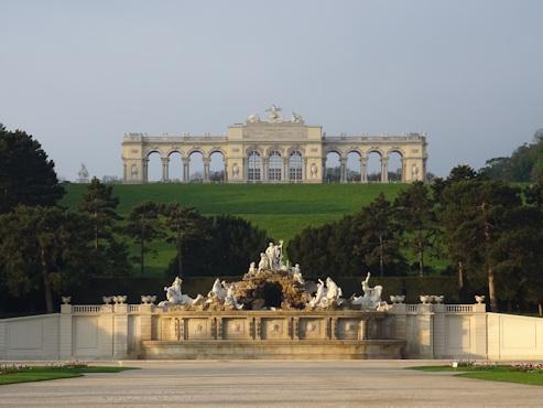 The Neptune fountain and Gloriette