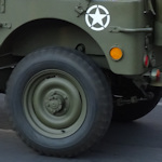 Military jeep wheel