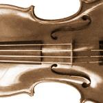 Part of a violin