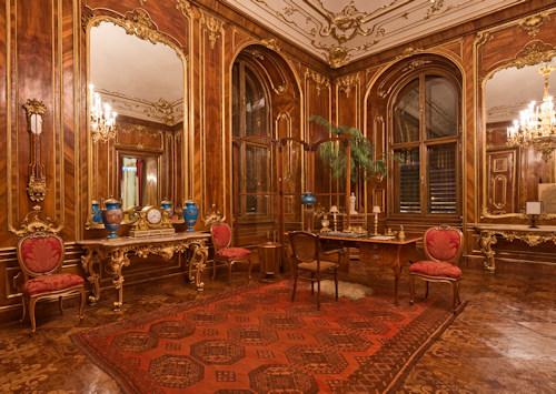 The walnut room in Schönbrunn Palace