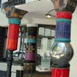Decorative Hundertwasser columns