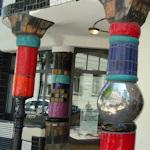 Decorative Hundertwasser columns