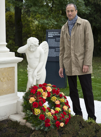 Mozart's grave and memorial