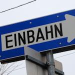 Einbahnstrasse sign