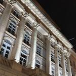 Palais Niederösterreich at night