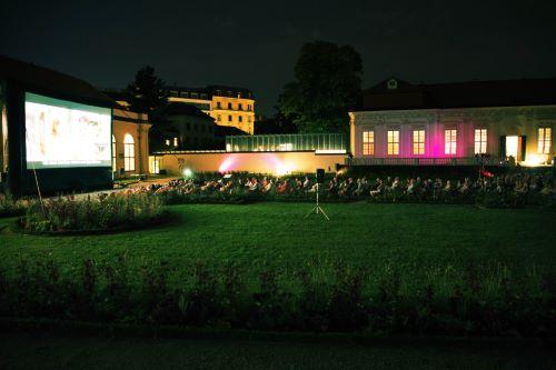 Open-air cinema in Belvedere's Kammergarten