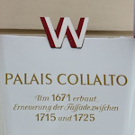 Plaque on Palais Collalto