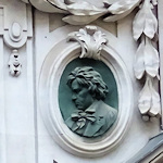 Relief at location of Beethoven's last residence