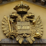 Coat of arms above an entrance