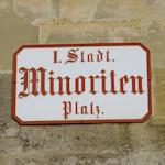 Minoriten Platz sign