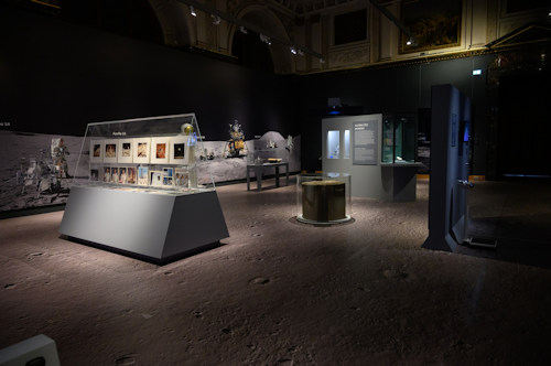Inside the moon exhibition