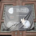 Moon exhibition poster