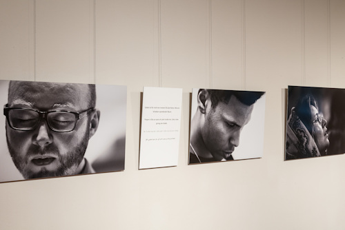 View of the Faces at Prayer exhibition