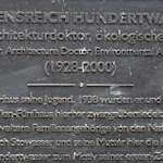Hundertwasser plaque