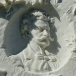 Relief on the Strauss grave