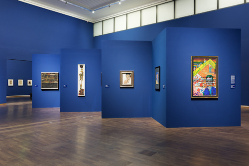Hundertwasser Schiele exhibition view