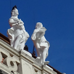Rooftop statues at Upper Belvedere
