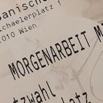 Morgenarbeit ticket stub