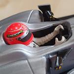 Cockpit of a model racing car