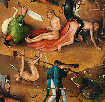 Detail from Bosch's The Last Judgment
