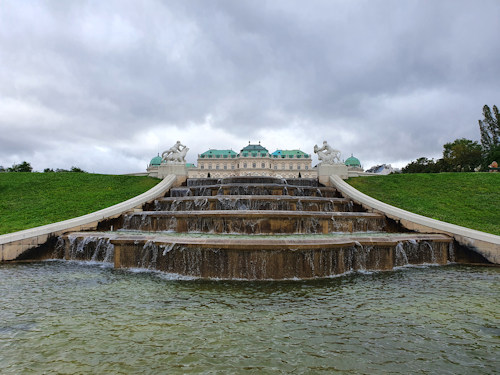 Garden fountain at Belvedere