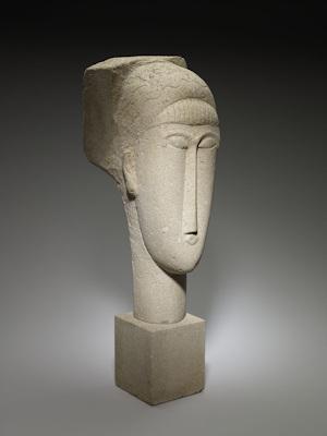 Head sculpture by Modigliani