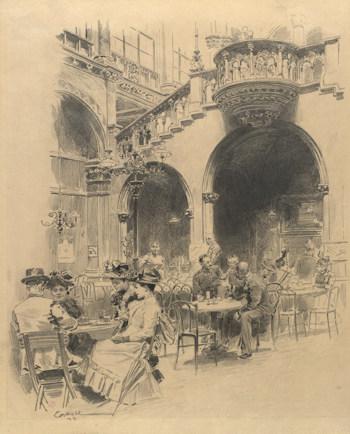 The Arkadenhof in the old Café Central