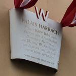Plaque outside Palais Harrach
