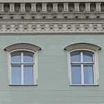Two windows of Palais Hardegg