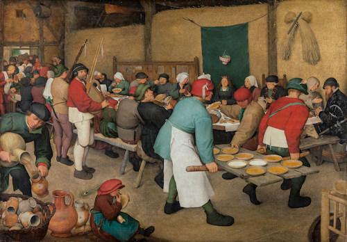 The Peasant wedding by Pieter Bruegel the Elder