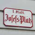 Josefsplatz street sign