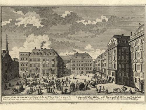 1725 view of Judenplatz