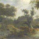Part of a painted landscape