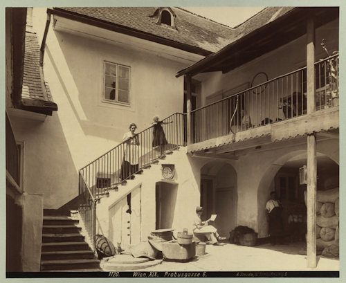 Beethoven's house in Probusgasse around 1902