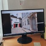 Screen showing street view