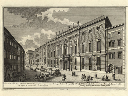 1725 view of Palais Batthyány-Schönborn