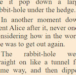 Excerpt from Alice in Wonderland