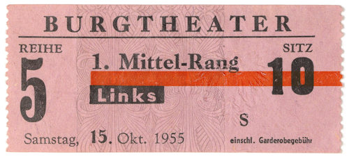 Old Burgtheater ticket