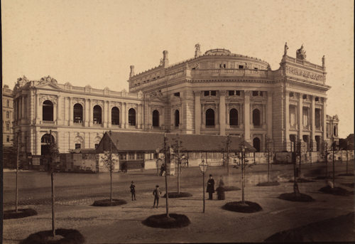View of the Burgtheater around the time of its 1888 opening
