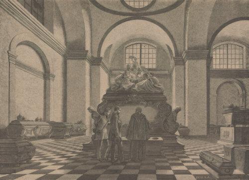 Engraving of the Kaisergruft