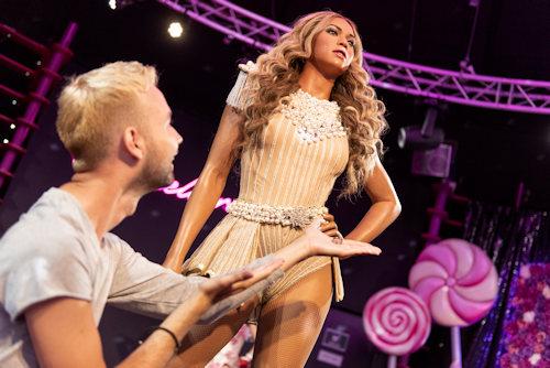 Wax model of Beyonce
