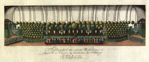 1785 party in the Orangerie
