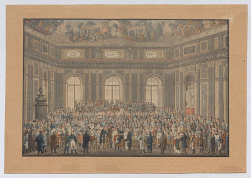 Performance of The Creation in the old university. Wien Museum Inv.-Nr. 185015