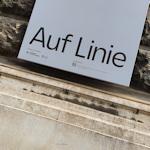 Auf Linie exhibition poster